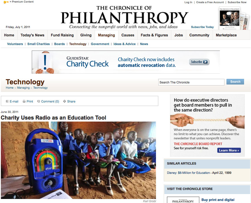 Chronicle of philanthropy